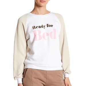 """WILDFOX """"ready for bed"""" crew sweatshirt S"""